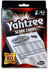 Yahtzee Score Cards Replacement Pad 80 Sheets