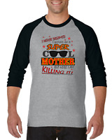 Gildan Raglan T-shirt 3/4 Sleeve  I Never Dreamed Be Super Cool Mother