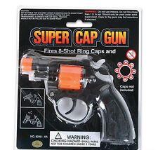 REVOLVER 8 SHOT CAP GUN!!! police toy birthday noise weapon action handgun pops