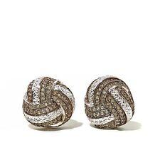 "Ravenna Gems Sterling Silver 0.74 Ctw Amethyst ""Love Knot"" Earrings HSN $119.90"