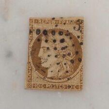 France n°1 10 centièmes bistre jaune Cérès 1850 oblitéré