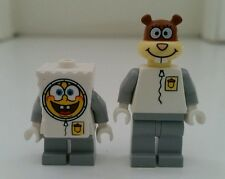 LEGO Spongebob Set of 2 Spongebob & Sandy Cheeks Mini Figure  (New Without Tags)