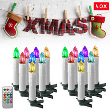 Kabellose LED Weihnachtsbaumkerzen 40er Christbaumkerzen Weihnachtskerzen RGB
