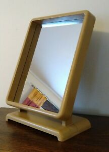 Vintage Art Deco Style Plastic Retro Desk Mirror Retail Shop Counter Top