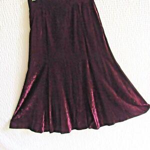 Vintage Velvet Burgundy Skirt M Luxurious Premium Velvet Liz Claiborne 10 12