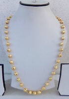South Indian Jewelry Ethnic Gold Plated Beaded Necklace Chain 22k Light Mala 24""