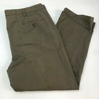Dockers D4 Chino Pants Mens 40X29 Olive Relaxed Fit Pleated Front Zip Closure