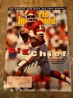 1993 Kansas City Chiefs JOE MONTANA Signed Sports Illustrated