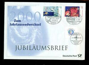 JUBILÄUMSBRIEF, Jahrtausendwechsel 31.12.1999,, mit Postkarte + Dokumentation..