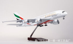 1/160 Simulation Passenger Aircraft Airplane Model A380 w/with LED Light Office