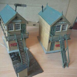 Model railway signal box oo gauge x2 kit built