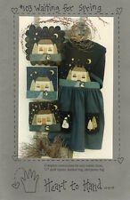 """©1996 UNCUT Heart to Hand Sewing Applique Pattern # 103 """"Waiting for Spring"""""""