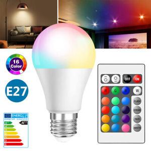 RGBW RGBWW LED E27 Ampoule Lampe Aluminium 5W/10W/15W + Télécommande Maison Déco