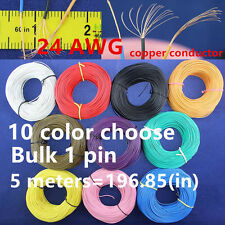 10 colors 50M flexible 24AWG PVC insulated Wire Electric cable LED DIY Connect