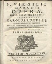 P. VIRGILII MARONIS OPERA tomo II  Carolus Ruaeus - Venetiis 1776  SETTECENTINA