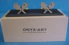 CUFFLINK SET - TENNIS RACQUETS - IDEAL PRIZE TROPHY OR GIFT CK03
