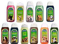 2 BOTTLES OF Johnsons Dog shampoo range. 200 ml bottles save £2.00