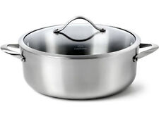 Calphalon Contemporary Stainless Steel 3 Qt Chef's Casserole with Cover New