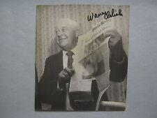 WARREN  ORLICK (DIED IN 2003) (PGA  PRESIDENT) Signed  5 X 6  B & W Photo