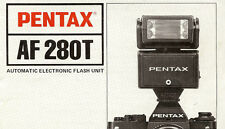 1980s PENTAX AF 280T ELECTRONIC CAMERA FLASH INSTRUCTION MANUAL for PENTAX 35mm