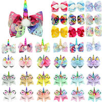 Unicorn Ribbon Boutique Hair Clip Alligator Clips Kids Girl Hairpin Party Decor