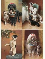 Victorian Trading Co Reichert Dogs Christmas Greeting Cards Stationery 12pk
