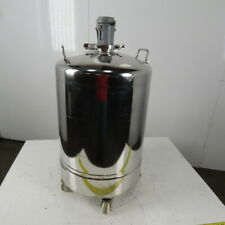24 Gallon Stainless General Purpose Pressure Vessel Tank 80 Psi Withcasters