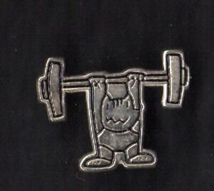 BARCELONA 1992 OLYMPIC GAMES. MASCOT COBI. WEIGHTLIFTING. SILVERY
