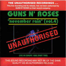 GUNS N ROSES - NOVEMBER RAIN VOL.4 AUSTRALIAN IMPORT CD