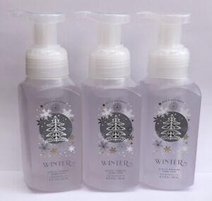 3 Bath & Body Works WINTER 2020 Gentle Foaming Hand Soap 8.75 fl.oz Frosted Look