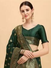 Indian ethnic fancy Banarasi Silk saree blouse designs wedding party wear sari