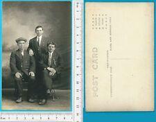 FotoCartolina  inizi '900 - Tre uomini eleganti - 19975