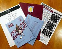Aston Villa v Tottenham Spurs Programme with official teamsheet+betslip 16/2/20!