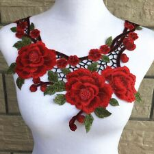 1Pcs Floral Embroidery Neckline For Dress Clothes DIY Sewing Lace Collar 30x28cm