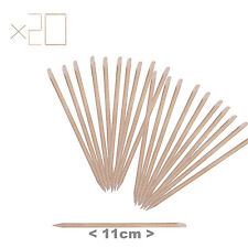 20 x Wood Cuticle Pusher Stick Manicure Hoof Nail Wooden Orange Sticks 11.5 cm