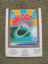 vintage surf movie poster ah-ooo surfboard surfing 1970s surfer texas showings