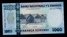 RWANDA 1000  FRANCS 2004 AA  PICK # 31  UNC.