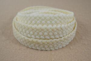 "Braided Wax Nylon Strip - 1"" x 8' - 7 Plat (H47)"