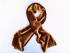 """Silk Velvet Scarf in IRIDESCENT AMBER Handmade 12x42"""""""