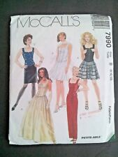 VTG 1990s Sewing Pattern McCalls 7990 Sz 8-12 Corset Tops and Skirts UNCUT