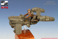 1/35 Resin Figure Kits Model Unpainted With (The Hover Bike And Figure Woman)