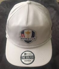 RYDER CUP 2018 THE GOLFER SHIELD NEW ERA SNAPBACK ROPE HAT WHITE