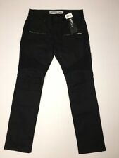 Express Jeans 31 X 30 Rocco Slim Fit Slim Leg Coated Black Mens Denim NWT $98