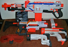 Working Battery Operated Nerf Modulus & Recon MK II Weapons with Accessories Lot