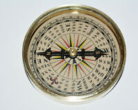"""Antique vintage brass compass collectible maritime marine 3"""" compass good gift"""