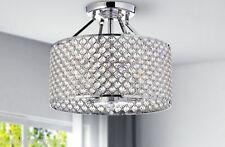 Modern Crystal 4 Lights Chandelier Chrome Pendant Ceiling Lighting Fixture Lamp