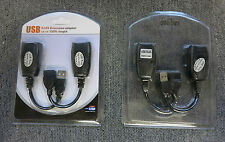 2 X Sabrent Usb-rjxt Cable de extensión USB Adaptador Extensor Cat5e RJ45 hasta 150ft