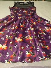 Hell Bunny Small Rockabilly Pin Up Dress Purple Las Vegas Dress VLV