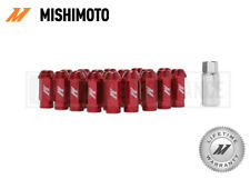 MISHIMOTO RED ALUMINIUM LOCKING WHEEL LUG NUTS SET - M12x1.25 - ANODISED