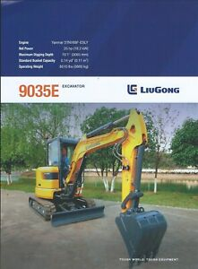Equipment Data Sheet - LiuGong - 9035E - Excavator - 11/16 - Brochure (E5964)